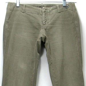 Diesel Women's Khaki Green Pants No Pockets Sz 28
